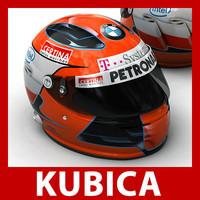 robert kubica helmet 1 3d 3ds