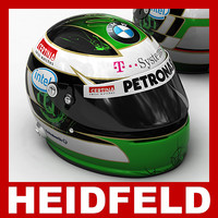 3d nick heidfeld f1 helmet model