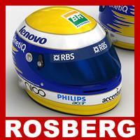nico rosberg f1 helmet 3d max