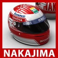 3d model of kazuki nakajima f1 helmet