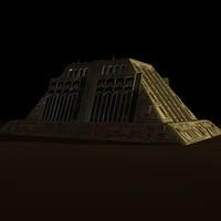 sci-fi building 3d c4d