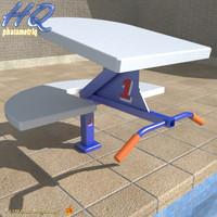 3d pool starting block 00 model