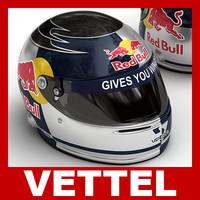 3d model sebastian vettel f1 helmet