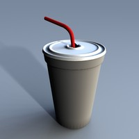 3d disposable soda cup
