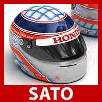 Takuma Sato F1 Helmet