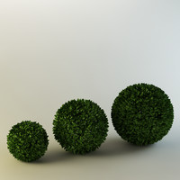 spherical bushes 3d model