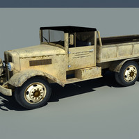 Old Truck low poly