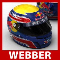 1 f1 mark webber 3d model