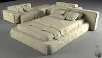 3d bed sofa