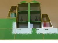 cabinet books realistic 3d max