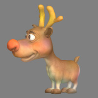 3d elk cartoons