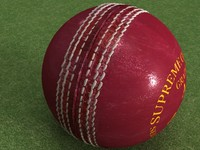 Leather Cricket Ball - High Quality Sports Equipment 3d model