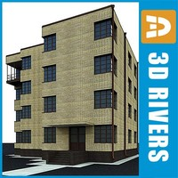 apartment building house 3d max