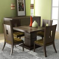 klaussner dining room set 3d model