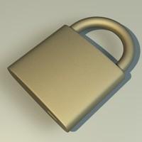 3d model lock