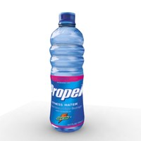 3d model propel water plastic bottle