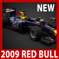 2009 F1 Red Bull RB5 (car, helmets, steering wheel and seat)