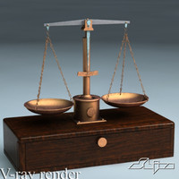 3d model of scales v-ray mentalray