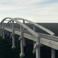 free bridge ocean 3d model