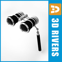 Theater glasses binoculars with holder by 3DRivers