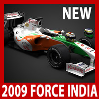 2009 F1 Force India VJM02 (car, helmets, steering wheel and seat)