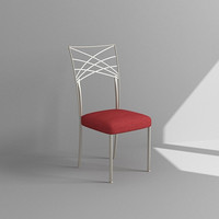 3d model metal dining chair