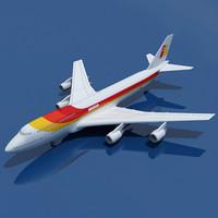 Iberia Airline of Spain Model Boeing 747