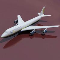 b 747 miami 3d model