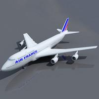 Air France 3D Model