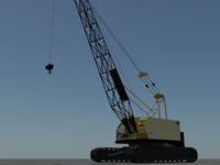 crawler crane 3d max