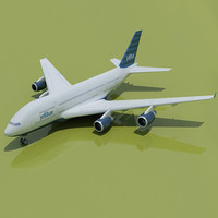 JetBlue Airlines 3D Airbus A380