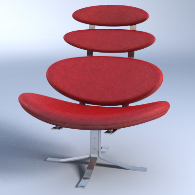 3d model corona chair - Corona chair replica ...