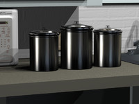 metal canisters 3d max