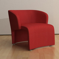 Contemporary style armchair (fabric/leather)