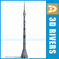 Ostankino television tower by 3DRivers