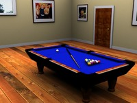 maya pool table