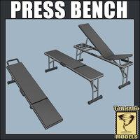 bench press 3d model