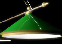 3d billiards lamp model