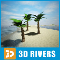 palm tree trachycarpus 3d 3ds