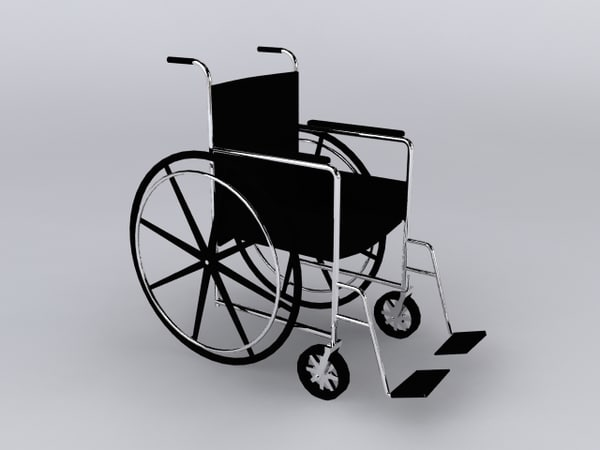 3d model wheelchair - Wheelchair... by David_Turner