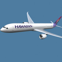3d a350-1000 hawaiian model