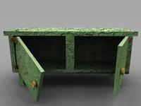 old cabinet 3d obj