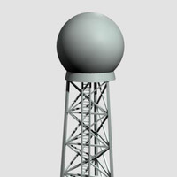 3d doppler tower model
