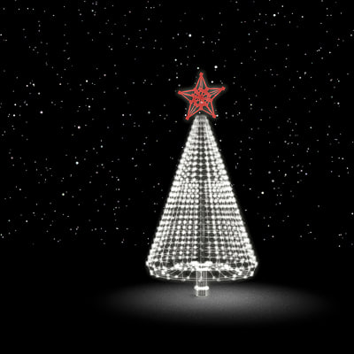 glowing christmas tree 3d model - Christmas tree by 3DRivers... by 3DRivers
