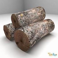 free logs firewood 3d model