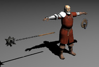 3d model of old man