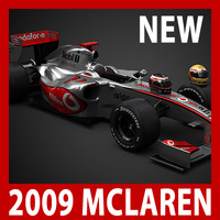 2009 F1 McLaren MP4-24 (car, helmets, steering wheel and seat)