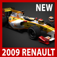 2009 F1 ING Renault R29 (car, helmets, steering wheel and seat)