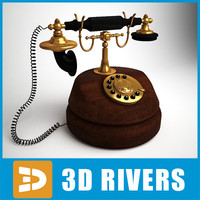 3d 3ds retro telephone
