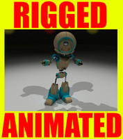 robot rigged animation 3d model